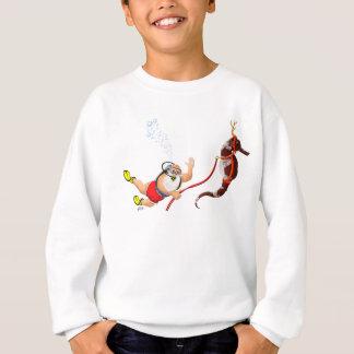 Equipo de submarinismo Santa y camiseta de los Remeras