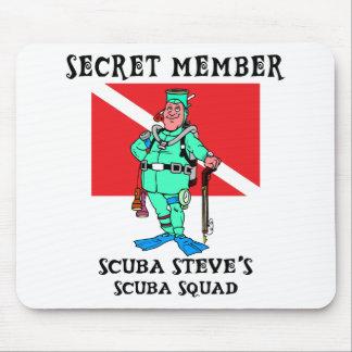 EQUIPO DE SUBMARINISMO secreto Steve del miembro Alfombrilla De Ratón