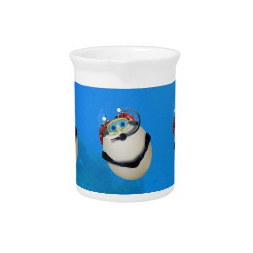 EQUIPO DE SUBMARINISMO subacuático Eggventure Jarra Para Bebida