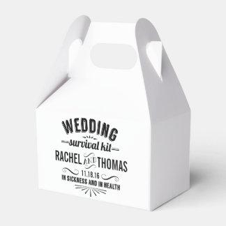 Equipo de supervivencia del boda del estilo del cajas para regalos