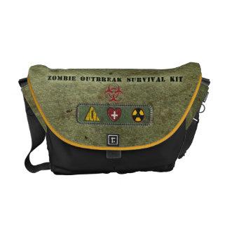 Equipo de supervivencia del brote del zombi bolsas de mensajería
