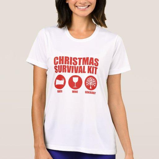 Equipo de supervivencia del navidad - baño t-shirt