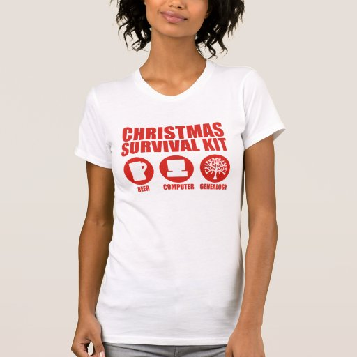 Equipo de supervivencia del navidad - cerveza camiseta