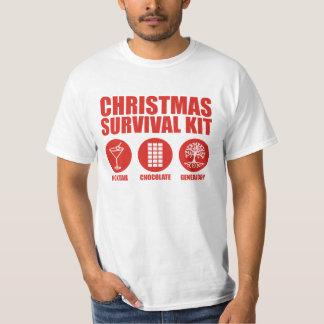 Equipo de supervivencia del navidad - cóctel camisas