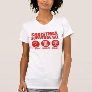 Equipo de supervivencia del navidad - cóctel camiseta