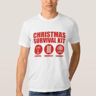 Equipo de supervivencia del navidad - cóctel playeras