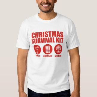 Equipo de supervivencia del navidad - cóctel poleras