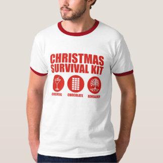 Equipo de supervivencia del navidad - cóctel remera