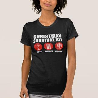 Equipo de supervivencia del navidad - cóctel remeras