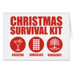 Equipo de supervivencia del navidad - cóctel tarjetas