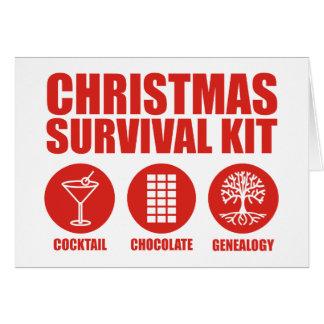 Equipo de supervivencia del navidad - cóctel tarjeta de felicitación