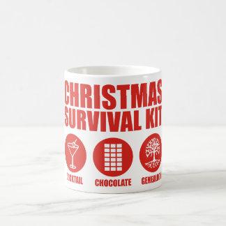 Equipo de supervivencia del navidad - cóctel taza clásica