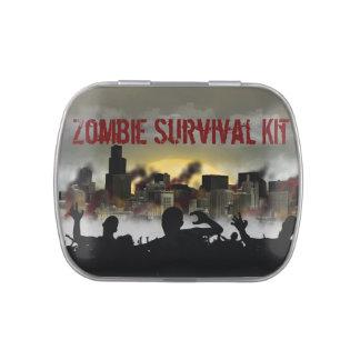 Equipo de supervivencia del zombi frascos de caramelos