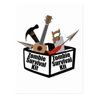 Equipo de supervivencia del zombi postal