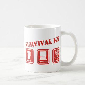 Equipo de supervivencia taza básica blanca