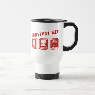 Equipo de supervivencia taza de viaje