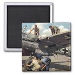 Equipo de tierra de WWII Luftwaffe + ME-110 Imán