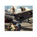 Equipo de tierra de WWII Luftwaffe + ME-110 Postal