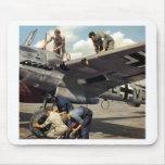 Equipo de tierra de WWII Luftwaffe + ME-110 Alfombrillas De Raton