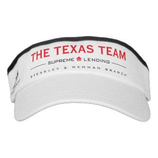 Equipo de TX - visera de punto del blanco Visera