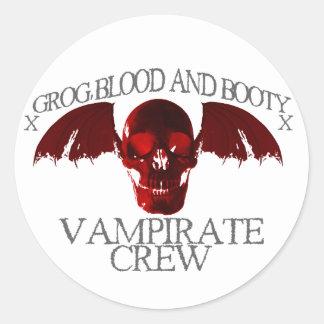 Equipo de Vampirate Pegatina Redonda