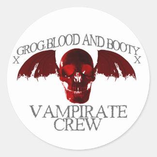 Equipo de Vampirate Pegatinas Redondas