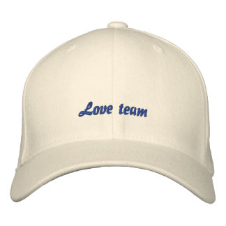 Equipo del amor gorra de béisbol