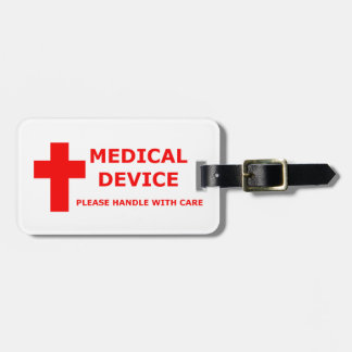 Equipo del aparato médico etiqueta para maleta