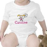 Equipo del bebé con el dibujo animado de encargo d camiseta