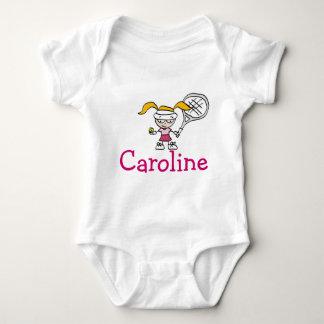 Equipo del bebé con el dibujo animado de encargo playera