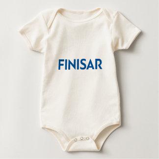 Equipo del bebé con el logotipo de Finisar Mameluco