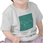 Equipo del bebé de tres Stupigs Camisetas