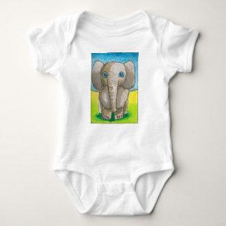 Equipo del bebé del elefante de Dina Body Para Bebé