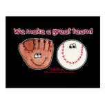 Equipo del béisbol y del guante de béisbol tarjetas postales