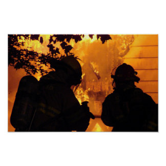 Equipo del bombero impresiones