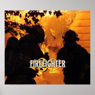 Equipo del bombero poster