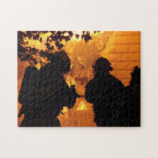 Equipo del bombero puzzle