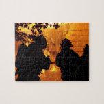 Equipo del bombero puzzle con fotos