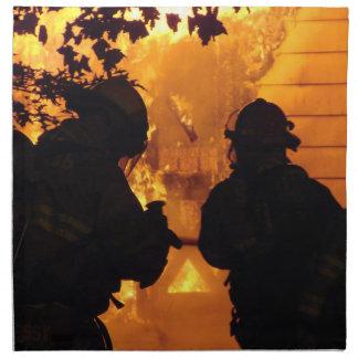 Equipo del bombero servilleta