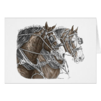 Equipo del caballo de proyecto de Clydesdale Tarjeta De Felicitación