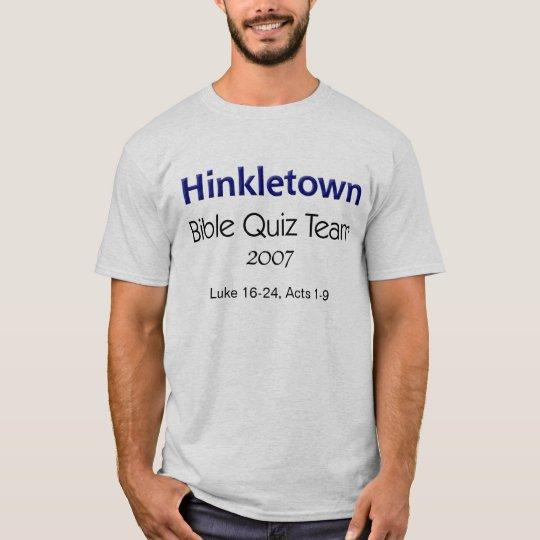 Equipo del concurso de la biblia de Hinkletown, Playera