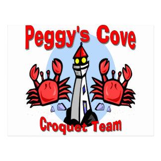 Equipo del croquet de la ensenada de Peggy Postal