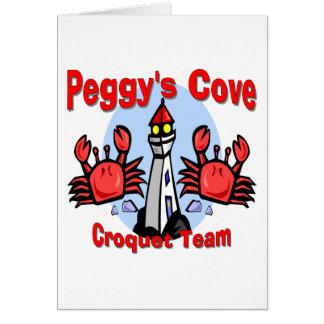 Equipo del croquet de la ensenada de Peggy Tarjeta De Felicitación