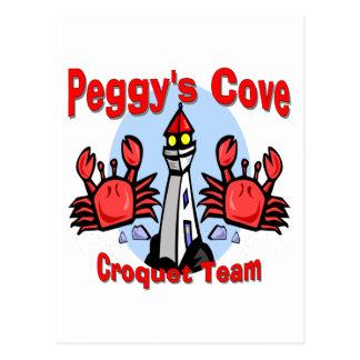 Equipo del croquet de la ensenada de Peggy Tarjetas Postales