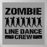 Equipo del cuerpo de baile del zombi posters