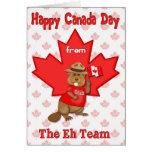 Equipo del día de Canadá Eh Felicitacion