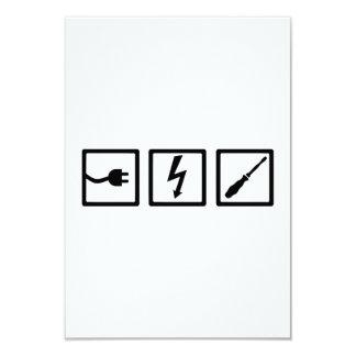 """Equipo del electricista invitación 3.5"""" x 5"""""""