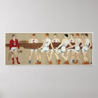 Equipo del equipo de Cornell, circa 1907 12H x 32W Póster