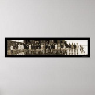 Equipo del equipo de Yale y foto enorme 1910 de lo Posters