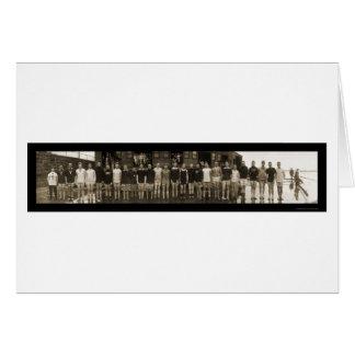 Equipo del equipo de Yale y foto enorme 1910 de Tarjeta De Felicitación